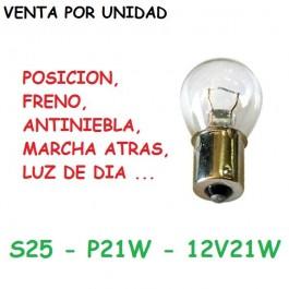 BOMBILLA HALOGENA 1157 P21W S25 12V 21W
