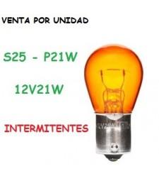 Bombilla Ámbar 1156 P21W S25 Halógena Naranja 21W Intermitentes Coche