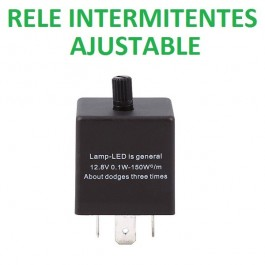 RELÉ 3 Pin ajustable parpadeo intermitente