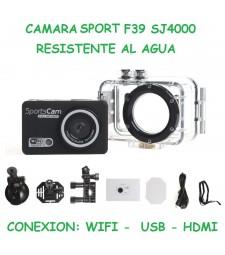 Cámara Deportiva con WiFi y HDMI Sumergible TV Ciclismo Buceo Aventura