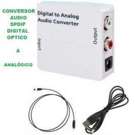 CONVERSOR DE AUDIO DIGITAL A ANALÓGICO FIBRA OPTICO OPTICA A RCA
