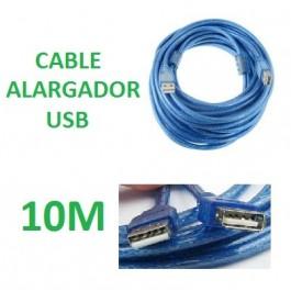 CABLE ALARGADOR USB 10 METROS MACHO - HEMBRA 480 Mbps