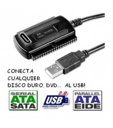 ADAPTADOR IDE SATA USB discos duros dc dvd blueray ordenador