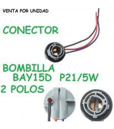 Conector Bombilla BAY15D P21/4W P21/5W S25 Hembra Coche Furgoneta Camión