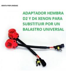 Conector Adaptador Bombillas D2S D2R D2C D4S Hembra Balastro Universal