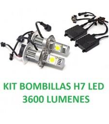 Kit de Led Bombillas H7 3600Lm Coche Moto Camión 12V / 24V
