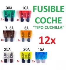 Set de 12 Fusible Universal Coche Moto Camión Furgoneta Carabana