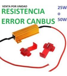 Resistencia 25W / 50W Cancelador Error Canbus Universal Bombillas Led