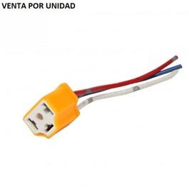 CONECTOR BOMBILLA H4 H4-2 9003 CERAMICO ESTANDARD LED XENON HALOGENA 100W