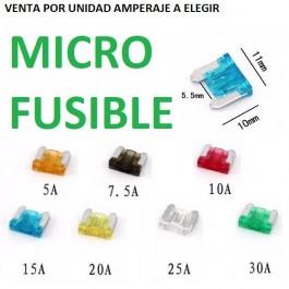 MICRO FUSIBLES PARA COCHE, FURGONETA, CAMION, TIPO CUCHILLA