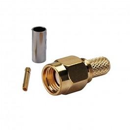 CONECTOR MACHO RP-SMA RG58 LMR195 RG142 RG400