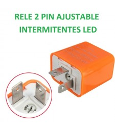 RELE UNIVERSAL 2 PIN AJUSTABLE INTERMITENTE LED MOTO INTERMITENCIA