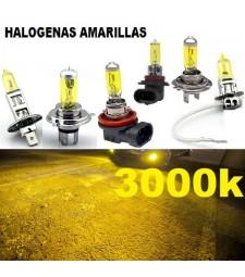 Bombilla Halógena Amarilla 3000K Anti Niebla Cruce Larga Coche Moto