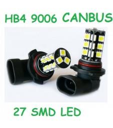 Bombilla HB4 9006 HIR2 9012 27 Led Smd 5050 CanBus Anti Niebla 6000K