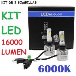 KIT LED CARRETERA 12V - 24V H1 H3 H4 H7 H8 H9 H10 H11 H16 HB2 HB3 HB4