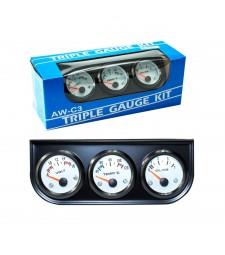 Relojes tunning Voltios Temperatura del Agua y Presión universal coche