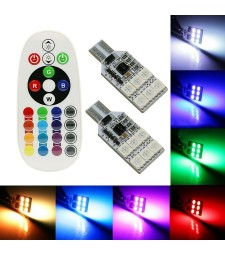 Kit 2 Led RGB T10 W5W T15 W16W Cambia Color Mando Bombillas Posición