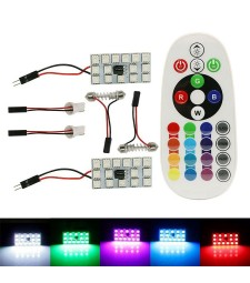 Kit 2 Paneles Led RGB T10 W5W Festoon C3W C5W C7W Cambia Color Mando