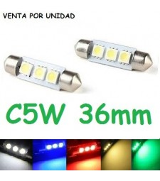 BOMBILLA FESTOON 3 SMD LED 5050 39 MM