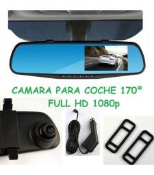 Cámara Coche 1080P Full HD Espejo Retrovisor Central Sensor Movimiento