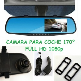 CAMARA COCHE 1080P FULL HD ESPEJO RETROVISOR CENTRAL SENSOR MOVIMIENTO