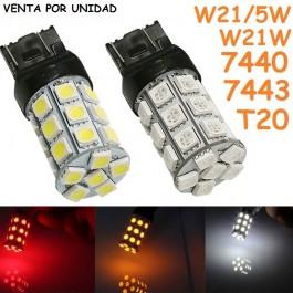 BOMBILLA LED T20 W21/5W 7443 580 7440 W21W 27 SMD