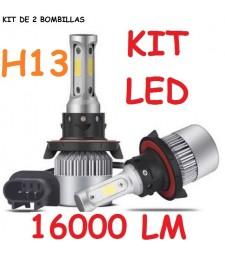 Kit H13 de Led 16000 Lumen 12V - 24V Coche Camión Cruce Carretera