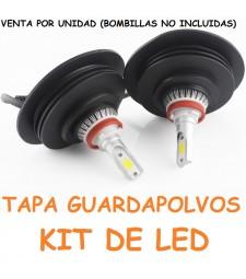 Tapadera Faro Kit De Led Cubierta Caucho Guardapolvo Universal Coche