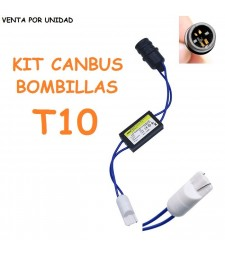 DECODIFICADOR LED T10 W5W CANBUS NO ERROR COCHE MOTO FURGONETA