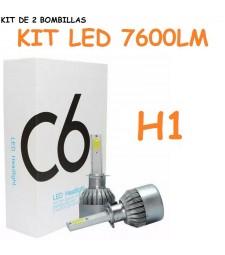 Kit H1 de Led 7600 Lumen 12V - 24V Coche Moto Camión Cruce Carretera