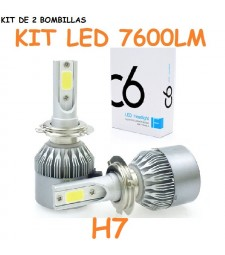 Kit H7 de Led 7600 Lumen 12V - 24V Coche Moto Camión Cruce Carretera
