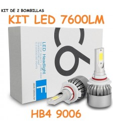 Kit HB4 9006 HIR2 9012 Led 7600 Lumen 12V - 24V Coche Camión Cruce