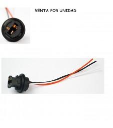 Conector Bombilla T20 7443 580 W21/5W Hembra Coche Moto Furgoneta