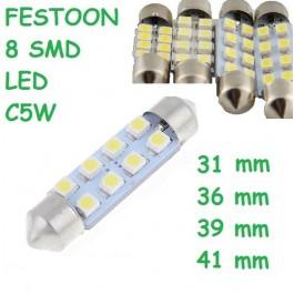 BOMBILLA FESTOON 8 SMD LED C5W