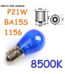 Bombilla S25 BA15s P21W 1156 21W Halógena 8500K Efecto Xenon Azulado