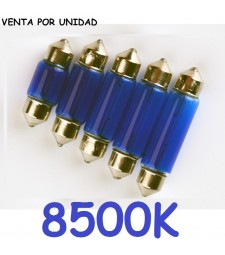 Bombilla Halógena C3W C5W C7W C10W C13W 8500K Azulado Efecto Xenon