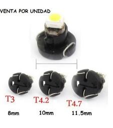 Bombilla Led T3 T4.2 T4.7 Marcador Cuadro Tablero Coche Moto Furgoneta