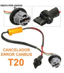 DECODIFICADOR LED T20 W21W 7440 CANBUS NO ERROR COCHE MOTO FURGONETA
