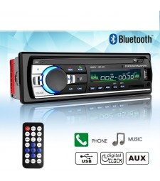 Radio de Coche Bluetooth MP3 USB SD AUX FM 4x60W 1 Din Universal 12V