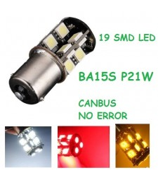 Bombilla BA15S P21W S25 1156 19 Led Smd 5050 Canbus 1 Polo No error