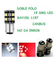 Bombilla BAY15D P21/5W S25 1157 19 Led Smd 5050 Canbus Posición y Freno