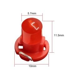 Bombilla T4.2 Led Ceramica Coche Moto Tablero Cuadro Marcador Colores