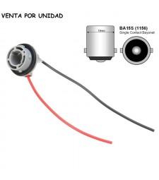 Conector Bombilla BA15S 1156 P21W S25 Hembra Coche Furgoneta Camión