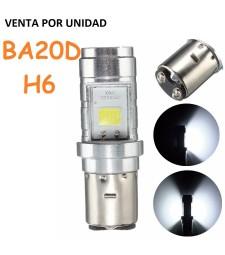 Bombilla Led BA20D H6 Luz Blanca Moto Quad Ciclomotor Corta y Larga