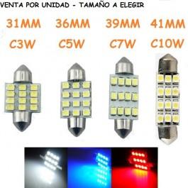 FESTOON 12 LED C3W C5W C7W C10W LUZ TECHO MALETERO COCHE