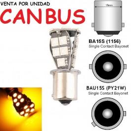 BOMBILLA LED PY21W P21W BAU15S BA15S INTERMITENTE CANBUS