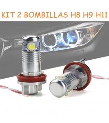 Kit Led Angel Eyes BMW Ojos de Angel o Anti Niebla H8 H9 H11 12W 900LM