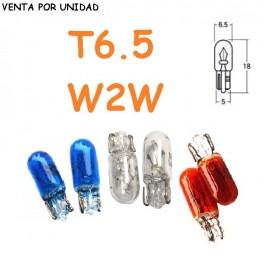BOMBILLA HALOGENA T6.5 W2W 12V 1.7W COLORES TABLERO