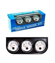 Relojes tunning Voltios Temperatura y Presión universal coche