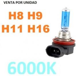 BOMBILLA HALOGENA H11 6000K EFECTO XENON